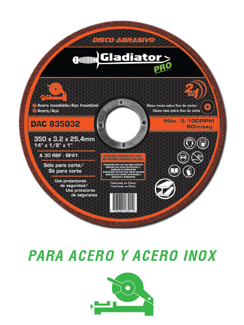 Abrasive Discs Extra Thin Straight Cut Gladiator